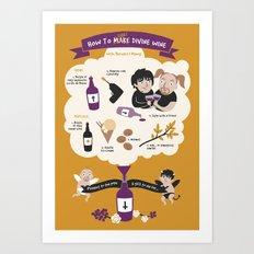 How To Make Divine Wine Art Print