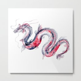 Koi Dragon Metal Print