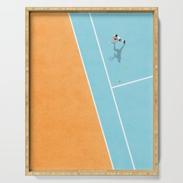 Tennis Court Colors  Serving Tray