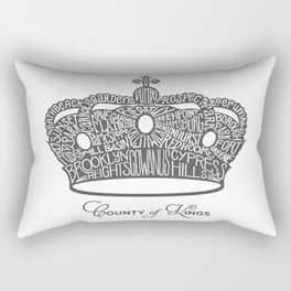 County of Kings | Brooklyn NYC Crown (GREY) Rectangular Pillow
