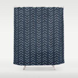 Mud Cloth Big Arrows in Navy Shower Curtain