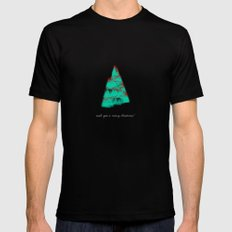 wish you a merry christmas! Black MEDIUM Mens Fitted Tee