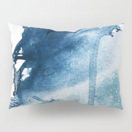 Pacific Grove: a pretty minimal abstract piece in blue by Alyssa Hamilton Art Pillow Sham