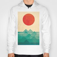 iphone 5 case Hoodies featuring The ocean, the sea, the wave by Picomodi