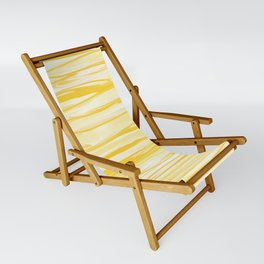 Milk and Honey Yellow Stripes Abstract Sling Chair