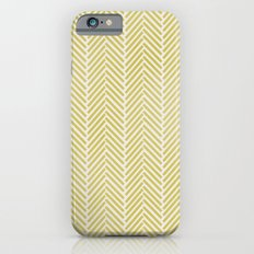GREEN HERRINGBONE  iPhone 6 Slim Case