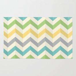 Green Diagonal Rug