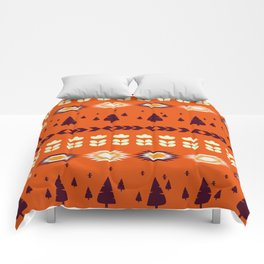Holiday pattern with Christmas trees Comforters