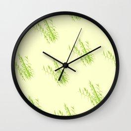 Bush Trees Pattern Wall Clock