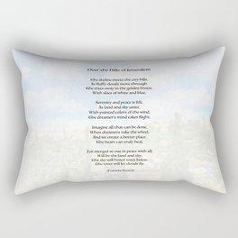 Over The Hills Of Jerusalem Poem Rectangular Pillow