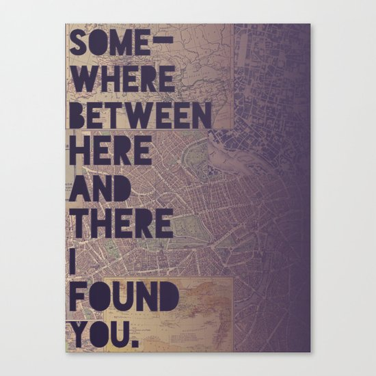 Here & There Canvas Print