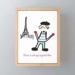 Paris is alway a good idea Framed Mini Art Print