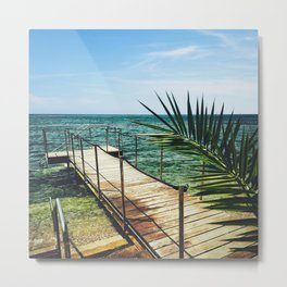 tropical jetty pier Metal Print