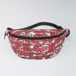 chinese animals red Fanny Pack