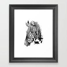 HIDDEN ANIMALS Framed Art Print