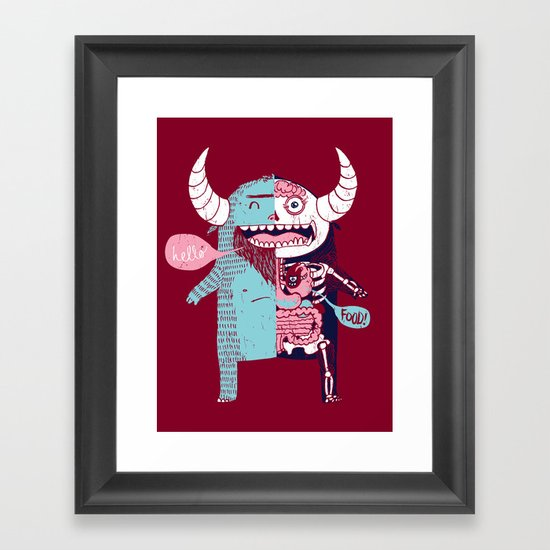All Monsters are the Same Framed Art Print