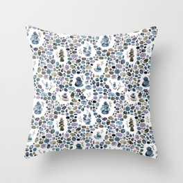 Wishing stones and cairns Throw Pillow