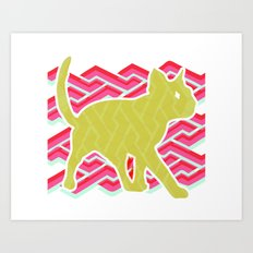 Green and Pink Art Print