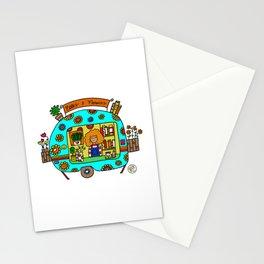 vintage flower power caravan Stationery Cards