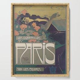 Vintage Advertisement Poster - Aleardo Villa - Cigarillos Paris (1901) Serving Tray