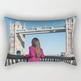 Woman in London Rectangular Pillow