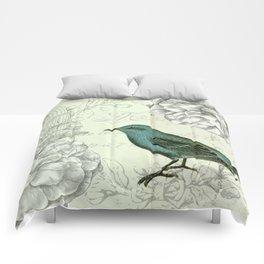 Collaged bird correspondence Comforters