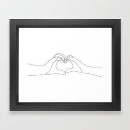 Hand Heart Framed Art Print