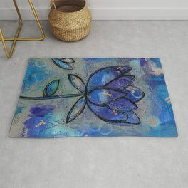Abstract - Lotus flower - Intuitive Rug