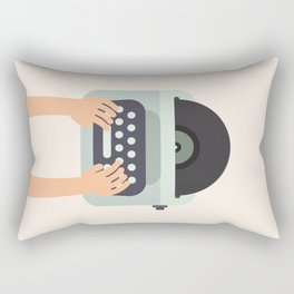 Vinyl Typewriter Rectangular Pillow