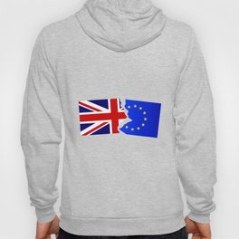 EU and Great Britain Flags Hoody
