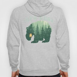 Forest Papa Bear for Dad Daddy or Father Family Fun Hoody