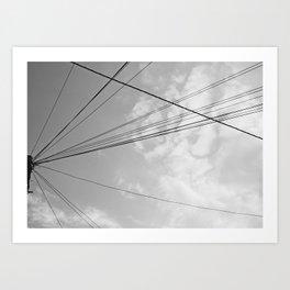 Power Pole 2 Art Print