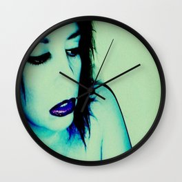 It Was All Electric Blue Wall Clock