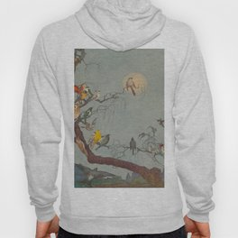 Forest friends - Royal Dixon - 1916 Birds In Moonlight Hoody