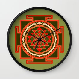 Sri Yantra Wall Clock