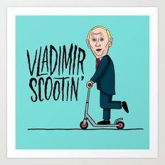 Vlad Scootin Art Print