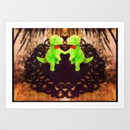 Double dino Art Print