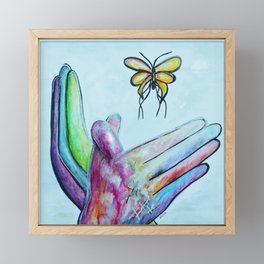 American Sign Language BUTTERFLY Framed Mini Art Print
