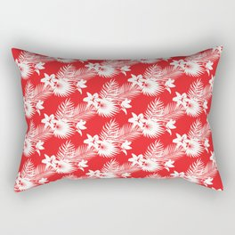 Palms in red Rectangular Pillow