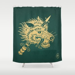 Wolf & Dagger - Color Shower Curtain