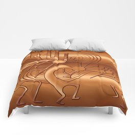 Magical Kokopelli in Burnt Orange Comforters