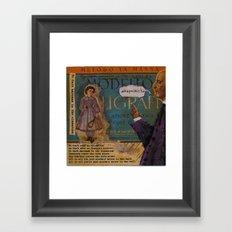 NO DARK SARCASM IN THE CLASSROOM Framed Art Print