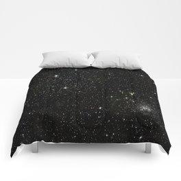 Space - Stars - Starry Night - Black - Universe - Deep Space Comforters