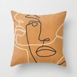 Abstract Face 6 Throw Pillow