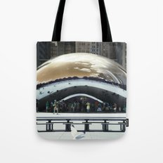 bean to cloud-gate recently? Tote Bag