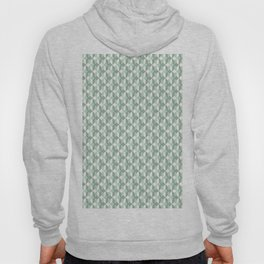 Abstract geometrical  forest mint green white pattern Hoody