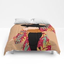 Kimono girl Comforters