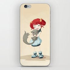 Girl and a Cat iPhone & iPod Skin