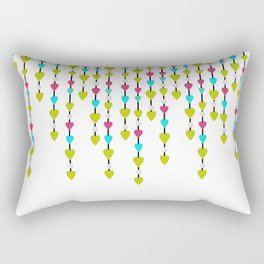 Pearl beads and hearts . Rectangular Pillow