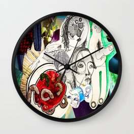 Collage 42 Wall Clock